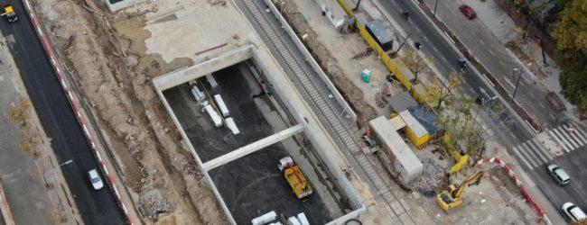 Se realizó la primera prueba con camiones en el Paseo del Bajo