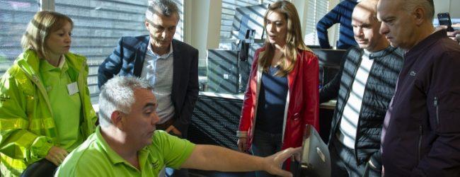 Vidal, Macri y Larreta visitaron el centro de monitoreo de Lanús