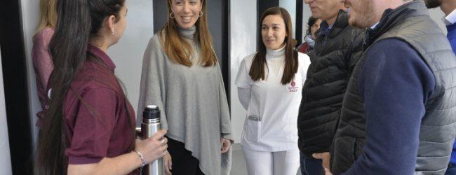 Vidal visitó dos Centros de Atención Primaria de Salud en Lanús