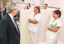 Alberto Fernández inaugura junto a Espinoza un nuevo hospital en La Matanza