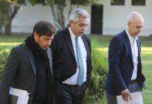 Alberto Fernández se encuentra con Rodríguez Larreta y Kicillof en Olivos